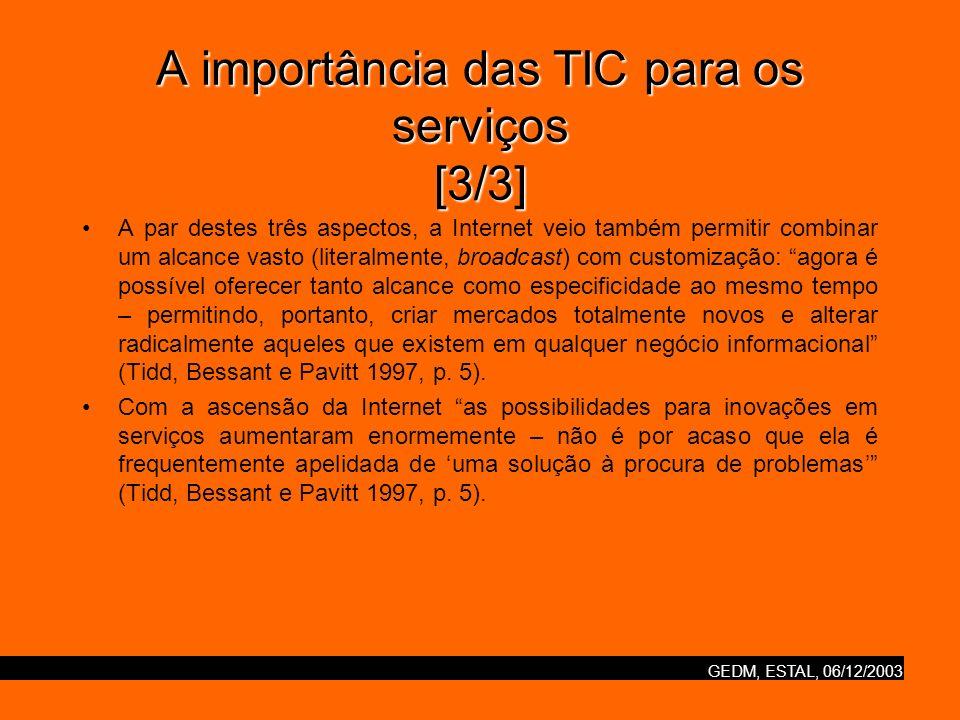 A importância das TIC para os serviços [3/3]